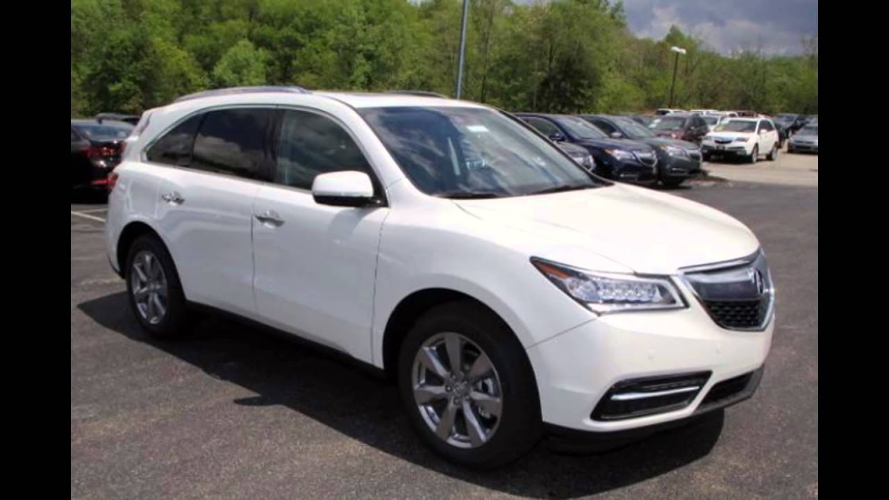 2016 acura mdx white diamond pearl youtube. Black Bedroom Furniture Sets. Home Design Ideas