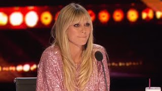 Heidi Klum Not Impressed by 'Tramp' Joke on 'AGT'