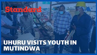 Youth in Mutindwa react to surprise visit by President Uhuru at their furniture workshop
