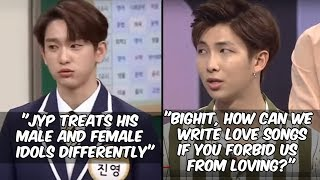 KPOP IDOLS THROWING SHADE AND CRITICIZING THEIR COMPANIES #2