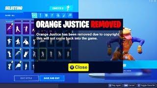 ORANGE JUSTICE EMOTE REMOVED FROM FORTNITE!? ORANGE JUSTICE KID NO LONGER in Fortnite Battle Royale!