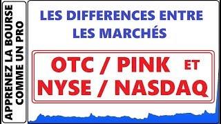 QUEL SONT LES DIFFÉRENCES ENTRE LES OTC MARKETS, PINK SHEET ET LE NASDAQ NYSE ETC.