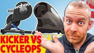 GIVEAWAY!!! Wahoo Kickr 2018 vs CycleOps H2: BEST ZWIFT TRAINER??