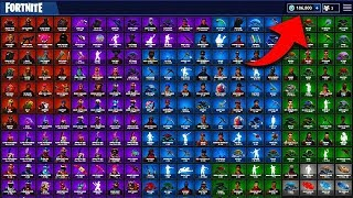 ALL 288 FORTNITE SKINS OF ENTIRE 2018!!!!