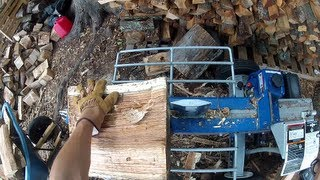 20-Ton Powerhorse Horizontal Dual Split Log Splitter