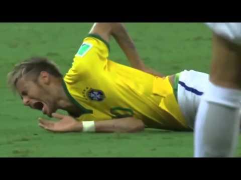 Neymar badly injured spine after nasty Zuniga hit