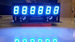 White LED display with Blue gel filter