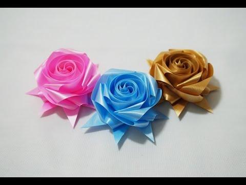 พับเหรียญโปรยทาน ดอกกุหลาบ 8 เส้น (rose)