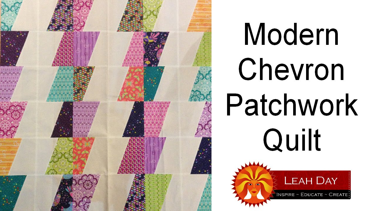 Moderne Quilts How To Make A Modern Chevron Patchwork Quilt Easy Quilting Tutorial With Leah Day