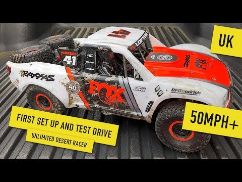 Traxxas Unlimited Desert Racer Setup and First Drive UK UDR
