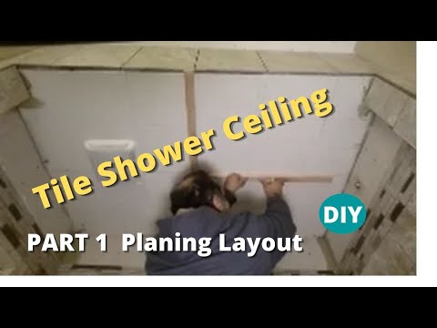 bathroom tile ceiling how to tile a shower ceiling part 1 planing where to 11571