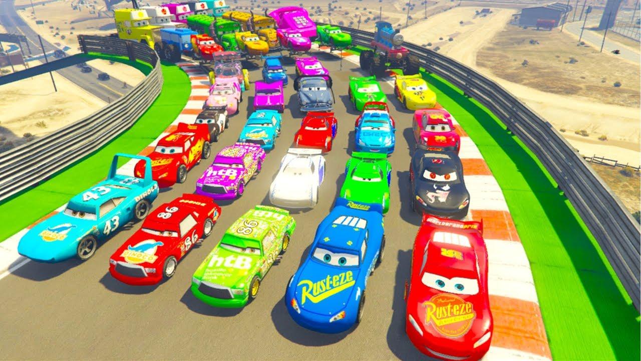 Phim Hoạt Hình Ô Tô vui nhộn thế giới ô tô 3 - Xe McQueen và xe Khủng Long dành cho trẻ em