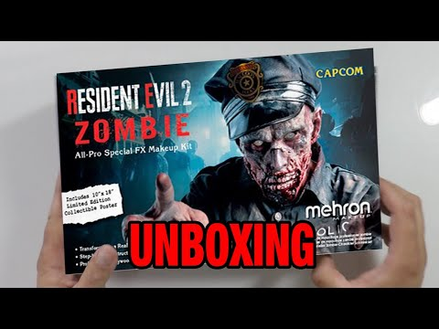 Unboxing - Resident Evil 2 Zombie Makeup Kit By Mehron