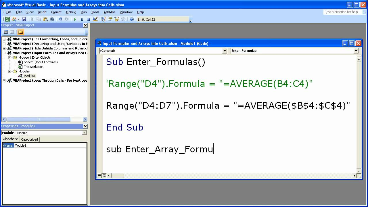 Guidelines and examples of array formulas