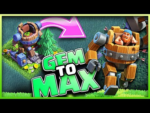Unlocking MAX BATTLE MACHINE • GEM TO MAX • Clash of Clans