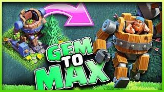 Unlocking MAX BATTLE MACHINE • GEM TO MAX • Clash of Clans