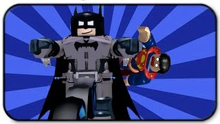 Roblox super hero tycoon - batman defeats superman