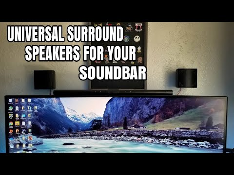 Universal Rear Surround Speakers For Your Soundbar