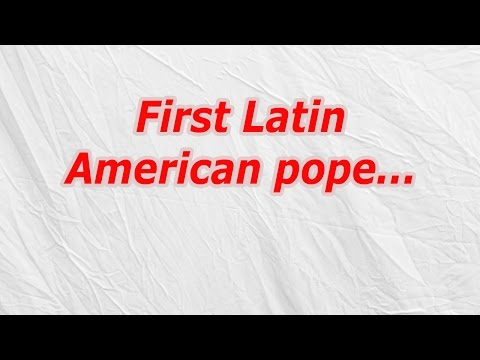 First Latin American pope (CodyCross Crossword Answer)