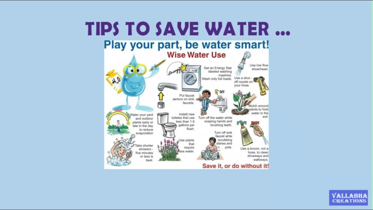 SAVE WATER - YouTube