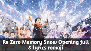 Re Zero Memory Snow OVA Opening full  ⎡Relive - Nonoc」 + lyrics Romaji