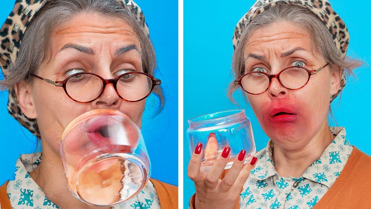 ट्रेंडी दादा-दादी vs मै / रिश्तेदारों के साथ मजेदार सिचुएशन