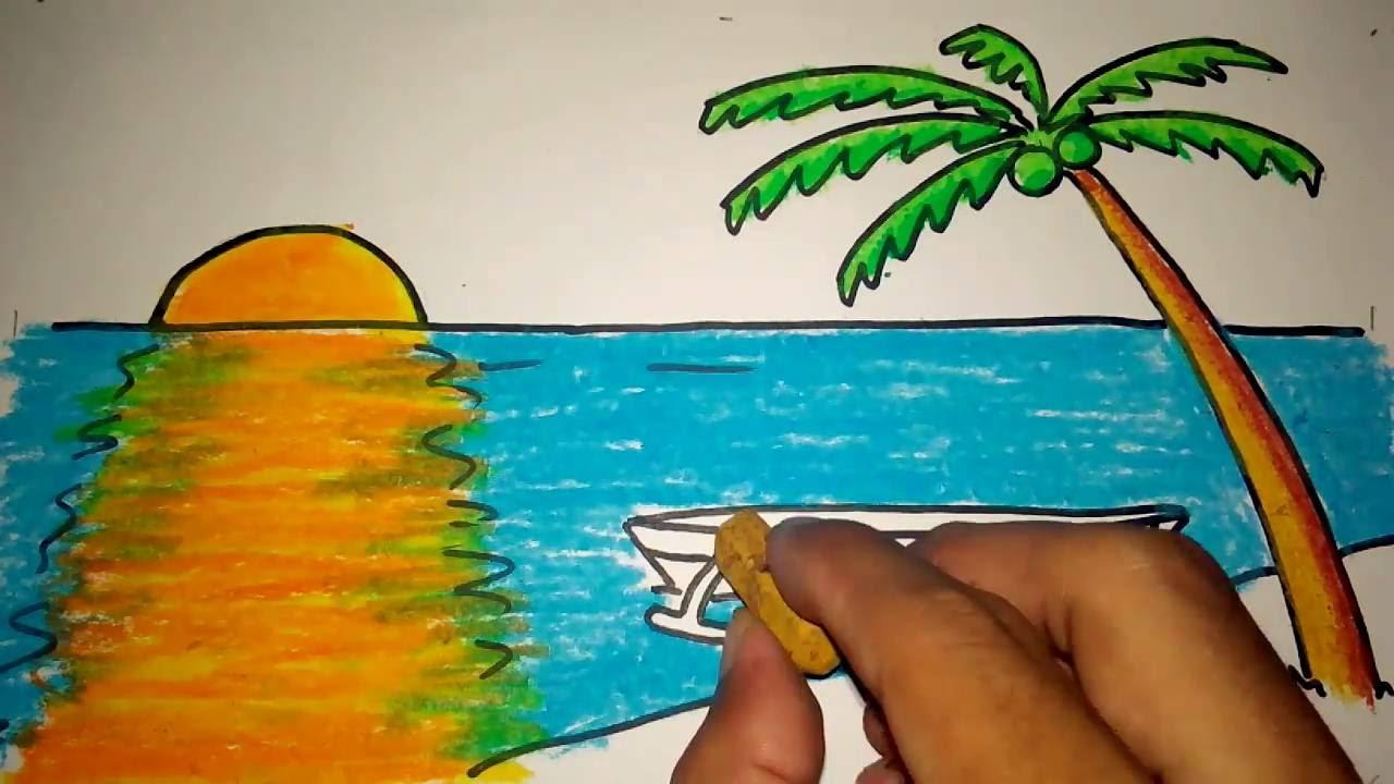 Lukisan Matahari Kartun