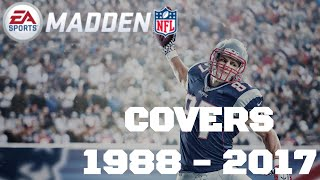 History of Madden NFL Covers - 1988 to 2017