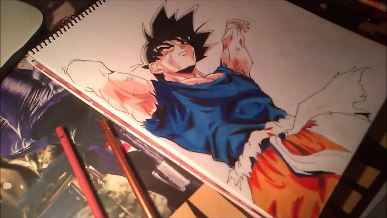 3d Wallpaper Of Dragon Ball Z Goku Speed Draw Genkidama Youtube