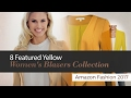 8 Featured Yellow Women's Blazers Collection Amazon Fashion 2017