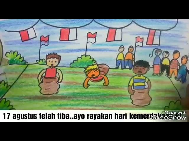 Wow Cara Menggambar Dan Mewarnai Lomba Balap Karung Kemerdekaan Ri 1945 Mulyadi Art Class Youtube