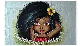 Pintura de boneca negra
