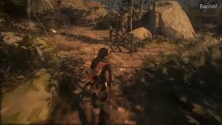 Rise of the Tomb Raider Bacon! XBox One X Achievement at the Ruins Encampment Base Camp