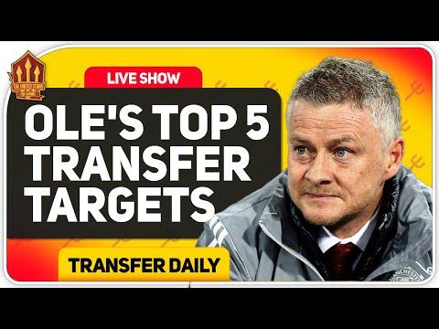 SOLSKJAER'S Top 5 Man Utd Transfer Targets!