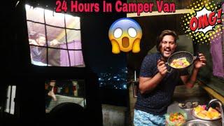 LIVING In CAMPER VAN For 24 HOURS😱😍 **Epic**