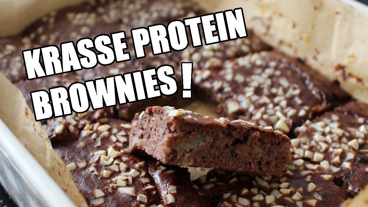Schoko Bananen Protein Brownies Das Einfachste Rezept Fur Faule