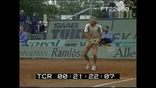 Björn Borg  17 years old in slow motion