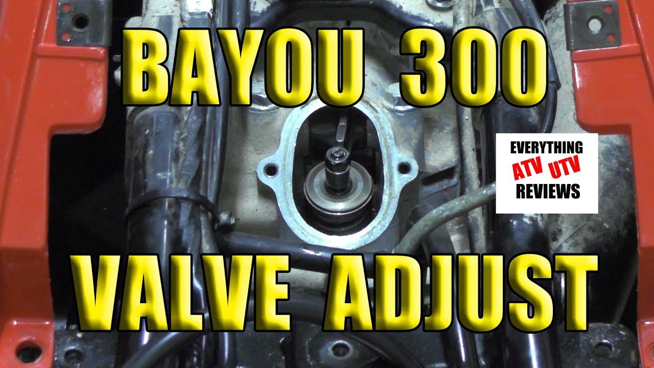 Klf 300 2x4 Or 4x4 Kawasaki Bayou Valve Adjustment 10