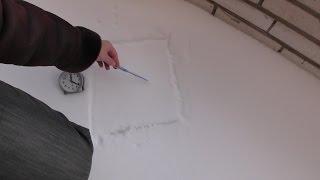 Эксперимент с солью и снегом. Снег обледенел от соли и исчез .Естествоиспытатель (обзор)