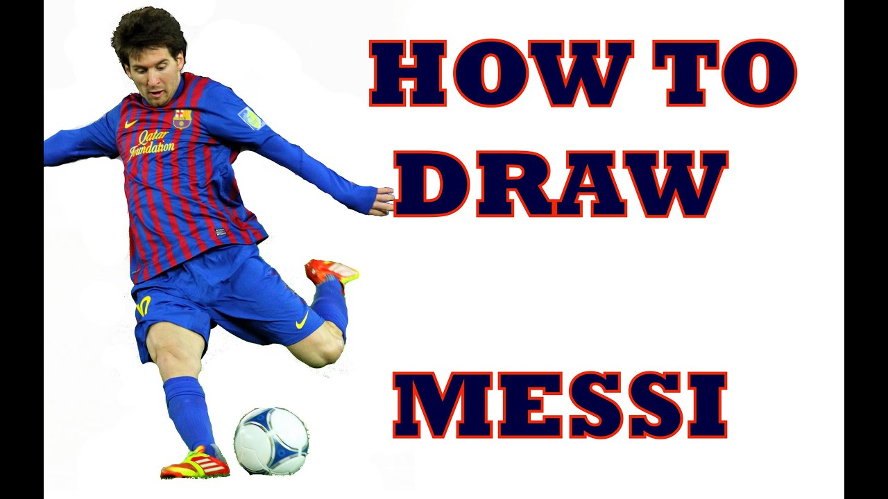 How to Draw Lionel Messi Step by Step  YouTube