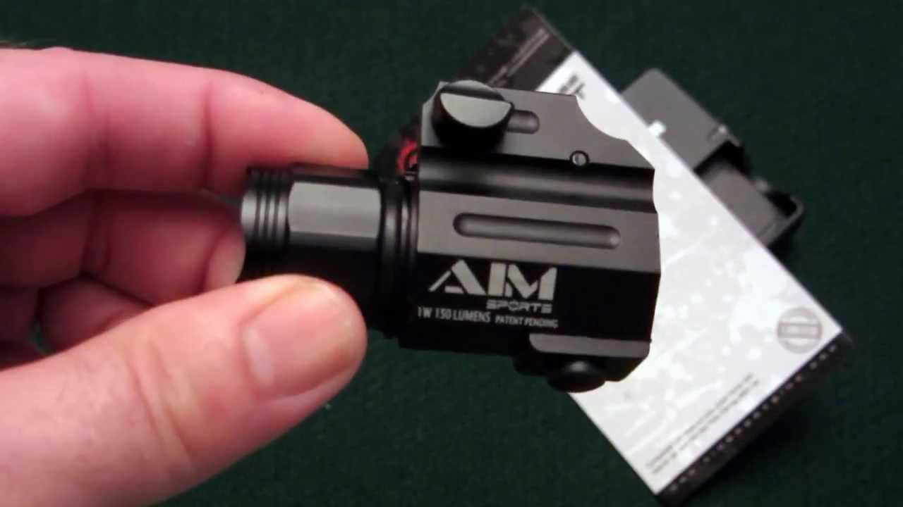 Aim Sports 150 Lumen Tactical Pistol Light Tabletop Review