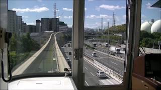 【澄んだ青空の下を行く!後方車窓】大阪モノレール 大阪空港~門真市