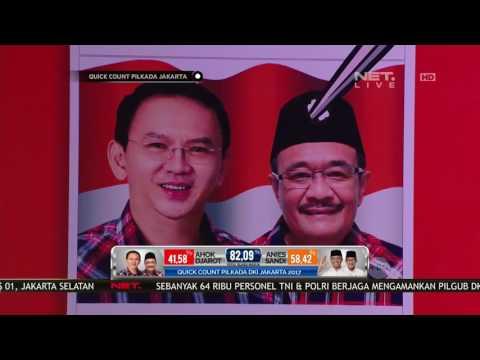 Quick Count Pilkada DKI - Markas Anies-Sandi Semakain Ramai Kedatangan Pendukung (10/12)