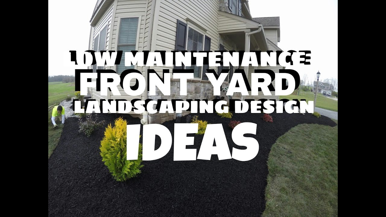 Low maintenance front yard landscaping design ideas east for No maintenance front yard