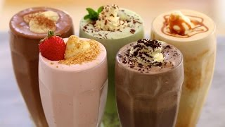 One of Gemma Stafford's most viewed videos: 5 Homemade Ice Cream Milkshakes - Gemma's Bigger Bolder Baking Ep  71
