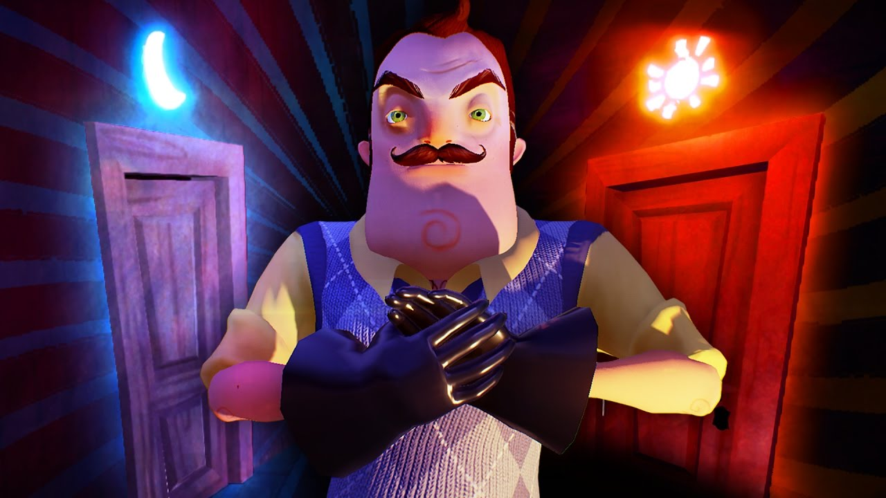 WHAT SECRETS ARE BEHIND THE SUN AND MOON DOORS!?!! (Hello Neighbor Secrets / Hello Neighbor Alpha 4) & WHAT SECRETS ARE BEHIND THE SUN AND MOON DOORS!?!! (Hello Neighbor ...