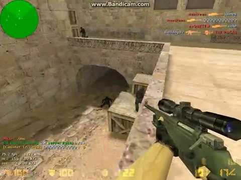 CS 1.6 SERBIA SavageS GaminG AWP 1 SHOT 3 KILL