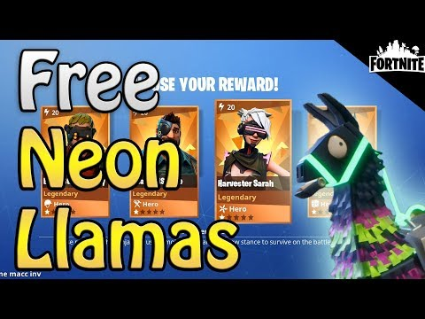FORTNITE - How To Get Free Neon Llamas, Free Gold, And New Meteor Shower (Encore Quest Guide)