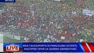 NTVL: Mga tagasuporta ni Pang. Duterte, nagtipon-tipon sa Quirino Grandstand