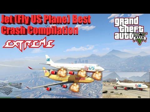 GTA V: Jet (Fly US Plane) Best Extreme Crash Compilation (60FPS)